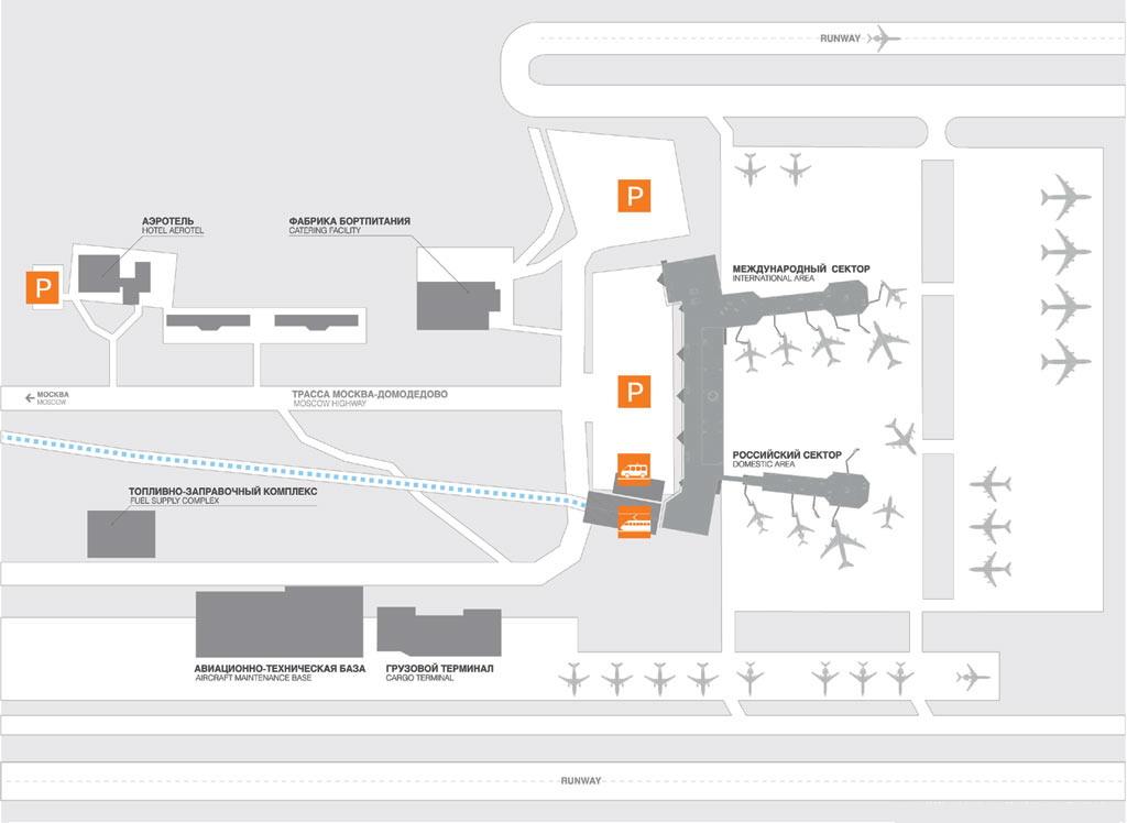 Схема подъезда к аэропорту